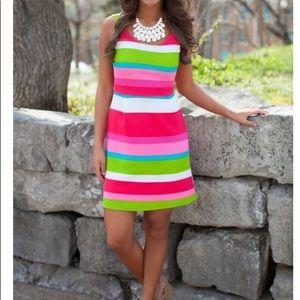 Derby Days Vibrant Striped Tank Dress